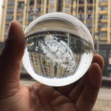 80mm diameter galaxy k9 crystal ball 3d laser end home decoration accessories astronomy miniatures gifts bola