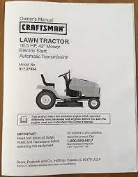 owner s manual sears craftsman 20 hp