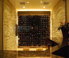 wine cellar lighting. Wine Cellar With Glass Doors LED Lighting