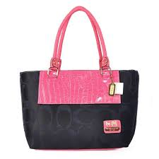ChatWithCoach Coach Embossed In Signature Medium Pink Totes BMR