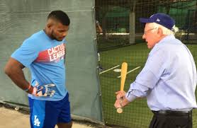 """Sung Min Kim on Twitter: """"Charlie Manuel giving hitting pointers to Bryce  Harper like… """""""