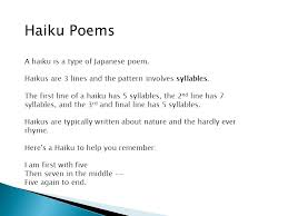 What's The Pattern Of A Haiku Enchanting Hi Boys And Girls Today You Will Learn About Four Different Types
