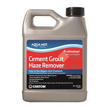 custom building s aqua mix 1 qt cement grout haze remover