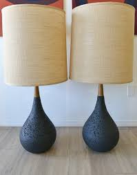 Lamp Shades Design : Mid Century Lamp Shade Two Twin Double Light ...