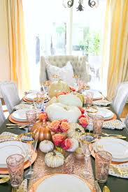 Fall Table Scapes How To Set An Elegant Rose Gold Fall Table