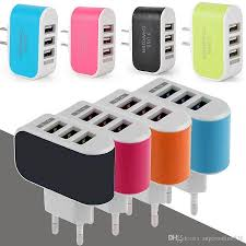 us eu plug 3 usb wall chargers led adapter travel convenient power adaptor with triple usb ports for mobile phone phone charger 3 usb charger 3usb charger