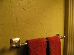 Stunning textured wall in a bathroom achieved with painted tissue paper