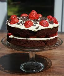 chocolate birthday cake with strawberries. Chocolate Birthday Cake For With Strawberries