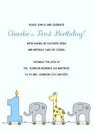 Birthday Invitation Design Templates Inspiration Birthday Invites Template Together With Elephant Giraffe Boys