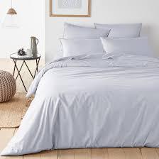 organic cotton percale duvet cover la redoute interieurs