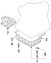 Genuine nissan trans pan drain plug nis 3137731x06