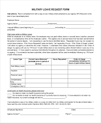 Sample Leave Request Form - 10+ Free Documents In Doc, Pdf