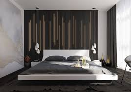 hanging slats futon bed modern bedroom accent wall decor ideas 0