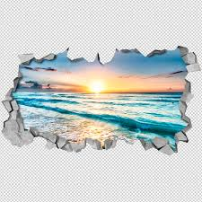 3d Wall Art Beach View 3d Wall Art Moonwallstickerscom