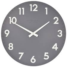 ... Thomas Kent Camden Clock Slate Large Dark Grey Wall Clock Unique Wall Clocks  Modern ...