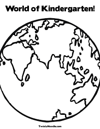 World Map Coloring Page For Preschoolers Color Bros