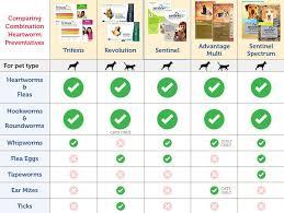 Flea Tick Prevention Comparison Chart Choosing The Best Heartworm And Flea Prevention