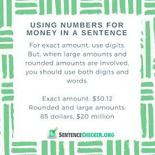 top rule for writing numbers in your sentences sentence checker rule for writing money in sentence