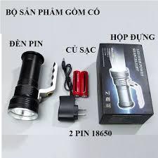 Đèn pin tốt )Đèn pin cầm tay siêu sáng T6,đèn pin led xách tay XINSITE  ,bằng hợp kim nhôm sử dụng 2 pin sạc có tặng dây sạc và 2pin 5800mah