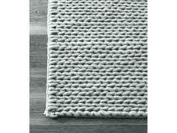 chunky fringe woven jute rug gray runner handmade braided light grey wool 2 6 x 8 restoration hardware chunky braided wool rug
