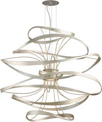 lighting gorgeous large light fixtures corbett calligraphy contemporary silver leaf led extra fixture canopy outdoor