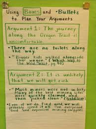 best high school english images teaching  argumentative essay boxes and bullets chart
