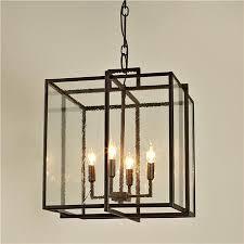 double cube frame lantern modern pendant lighting shades of regarding black light prepare 6