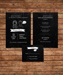 Wedding Invitation Set Templates 26 Chalkboard Wedding Invitation Templates Free Sample Example