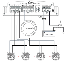 channel amp wiring sub and speakers image wiring a 4 channel amp wiring image wiring diagram on 4 channel amp wiring