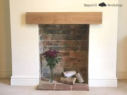 Solid Oak Mantle, Fireplace Lintel Beam, Mantel Shelf, Easy Fit ...