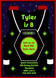 Free Laser Tag Invitation Template Free Printable Laser Tag Invitations Template Birthday Laser Tag