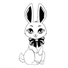 Cute Bunny Coloring Pages Cute Bunny Coloring Pages Printable To