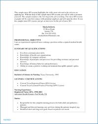 Nursing Resume Objective Examples Rn Skills Resume Sample Nurses