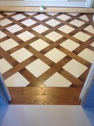 Hardwood And Tile Floor Designs Wood And Tile Basket Weave Pattern Kitchen Flooring Wood
