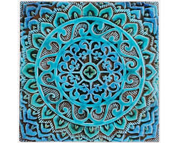 zoom on mandala wall art metal with mandala wall hanging made from ceramic outdoor wall art