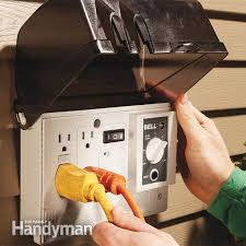 how to add an outdoor outlet the family handyman step 5 mount the weatherproof box cover