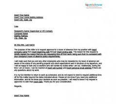 Sample Of A Leave Of Absence Letter Lettering Letter