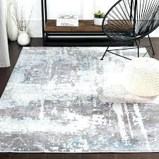 contemporary grey blue area rug rugs orange and