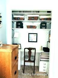 closet office desk. Home Office Closet Desk In