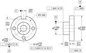 Geometric Tolerancing Reference Chart Engineering Drawings Gd T For The Quality Engineer