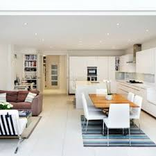 open kitchen living room designs. Contemporary Open Concept Kitchen Designs - Trendy Galley  Photo In London With Flat Living Room