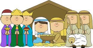 Image result for childrens nativity scene  christmas clip art free
