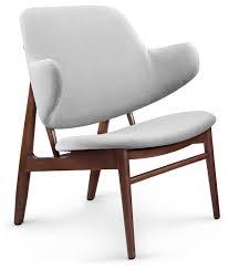 Stern Modern Classic Grey Velvet Lounge Chair modern-living-room-chairs
