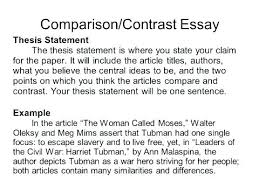 Example Of A Comparison And Contrast Essay Compare And Contrast Essay Sample For College