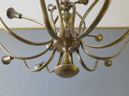 mid century italian 20 arm brass chandelier 2