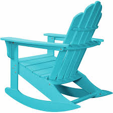 com hanover outdoor furniture hvlnr10wh all weather contoured adirondack rocking chair white garden outdoor