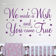 see larger image on wall decal quotes for nursery with we made a wish wall quote nursery wall decal decor sticker vinyl