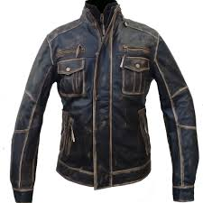 fame jacket mens moto vintage distressed leather
