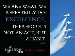 Aristotle Excellence Quote Delectable Aristotle Excellence Quote With We Are What We Repeatedly Do