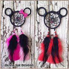 Mickey Mouse Dream Catcher Adorable Amazon Mickey And Minnie Mouse Dreamcatcher Rear View Mirror